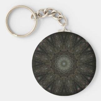 The Hours Square Clock Mandala Key Ring