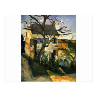 The House and the Tree by Paul Cezanne Postcard