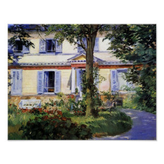 The House at Rueil by Manet Fine Art Print