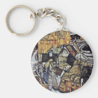 The House Bend Iceland Or City Basic Round Button Key Ring