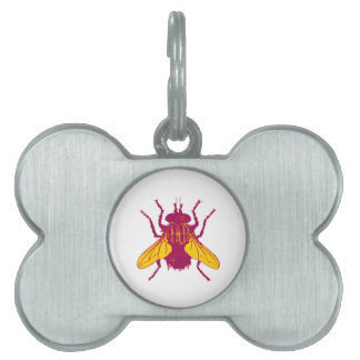The House Fly Pet Name Tag