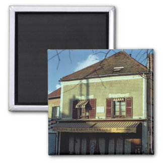The house in which Vincent van Gogh Square Magnet