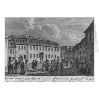The house of Johan Wolfgang von Goethe  in Card