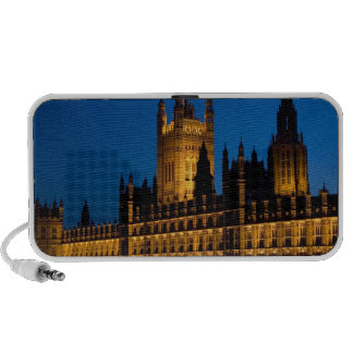 The Houses of Parliament at night in the city of Travel Speaker