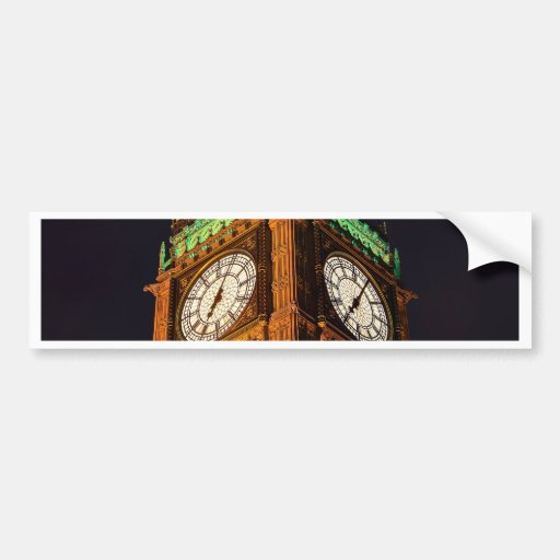 The Houses of Parliament clock tower, Westminster Bumper Stickers