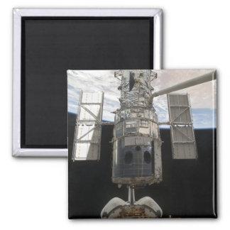 The Hubble Space Telescope Space Shuttle Atlant Square Magnet