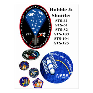 The Hubble Telescope and the Shuttle Postcard