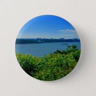 The Hudson River with NYC 6 Cm Round Badge