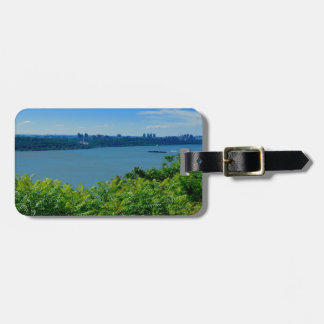 The Hudson River with NYC Luggage Tag