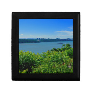 The Hudson River with NYC Small Square Gift Box