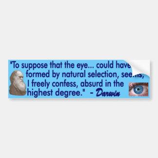 The Human Eye Car Bumper Sticker