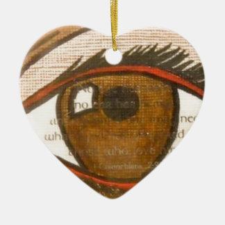 The Human Eye Ceramic Heart Decoration