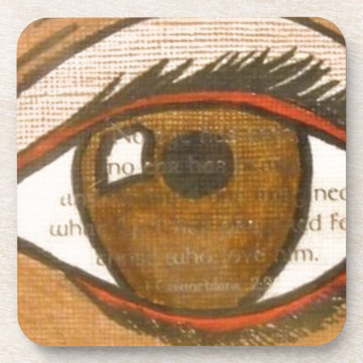 The Human Eye Beverage Coaster