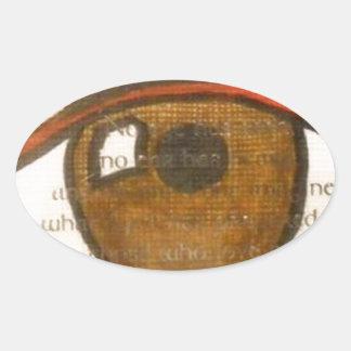 The Human Eye Oval Sticker