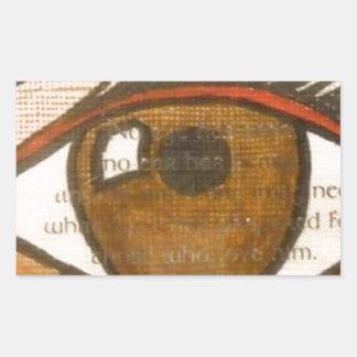 The Human Eye Rectangular Sticker