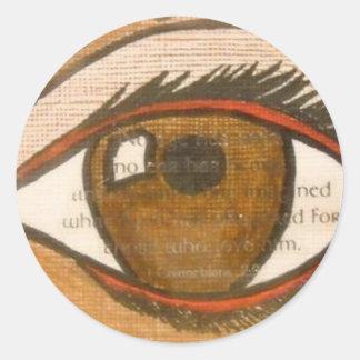 The Human Eye Round Sticker