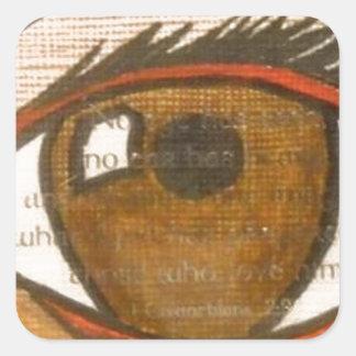 The Human Eye Square Sticker