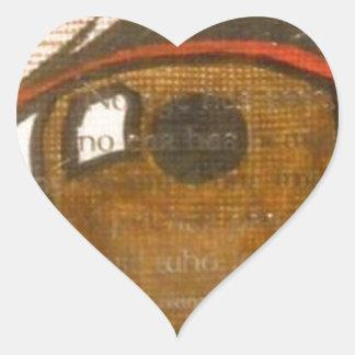The Human Eye Heart Stickers