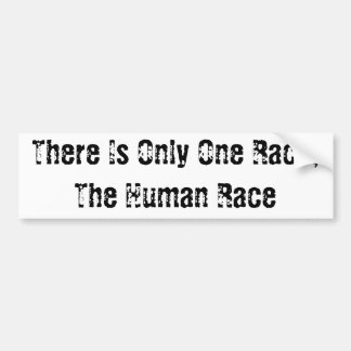The Human Race Bumper Sticker