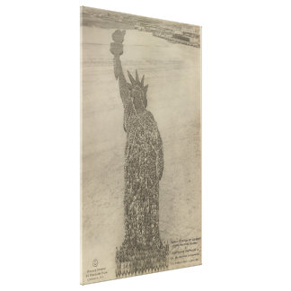 The Human Statue of Liberty at Camp Dodge Print Gallery Wrapped Canvas