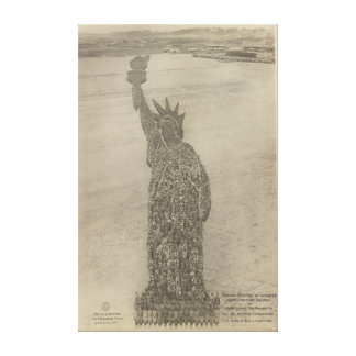 The Human Statue of Liberty at Camp Dodge Print Stretched Canvas Prints