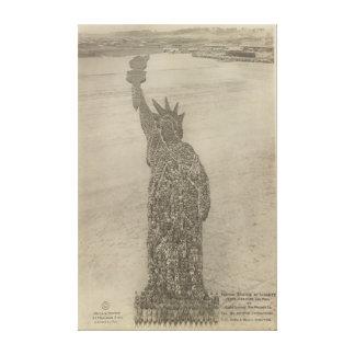 The Human Statue of Liberty at Camp Dodge Print Canvas Print