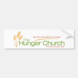 The Hunger Church Bumper Sticker Car Bumper Sticker