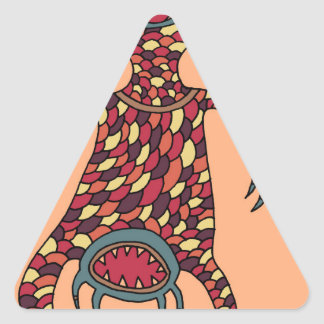 The Hungry Cyclops Triangle Sticker