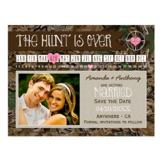 The Hunt Camo Calendar Photo Save The Date Cards Postcard