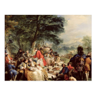 The Hunt Lunch, 1737 Postcard
