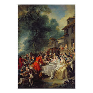 The Hunt Lunch, 1737 Poster