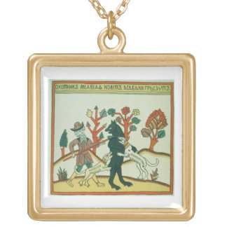 The Hunter and the Boar, Russian, late 18th centur Gold Plated Necklace