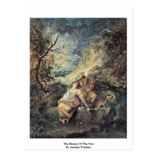 The Hunter Of The Nest By Antoine Watteau Postcard