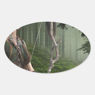 The Huntress Oval Sticker