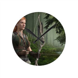 The Huntress Round Clock