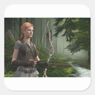 The Huntress Square Sticker