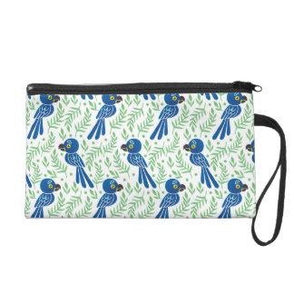 The Hyacinth Macaw Pattern Wristlet