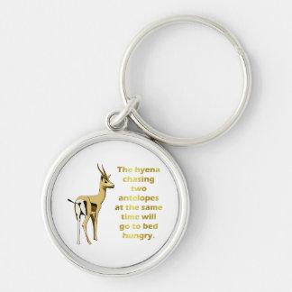 The hyena that chases 2 antelopes key ring