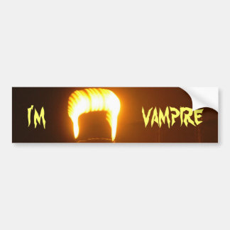 The I am a Vampire Bumper Stickers