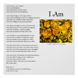 The I Am Poem - Customizable Print