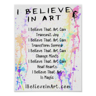 The I Believe In Art Manifesto Promotional Poster