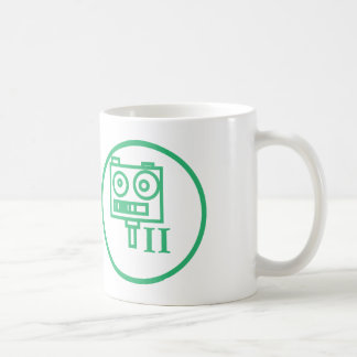"The ""I build robots"" badge (LEVEL II) Coffee Mugs"