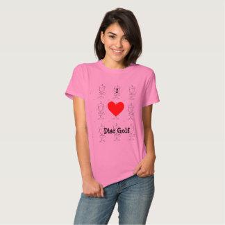 The I ♥ Disc Golf t-shirt w/ artist image