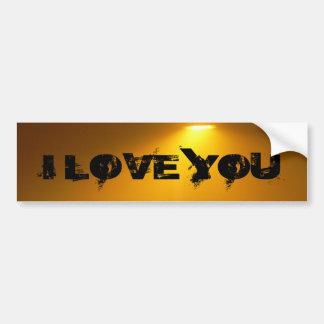 The I Love You Car Bumper Sticker