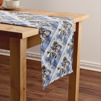 The Ice Wolf Short Table Runner