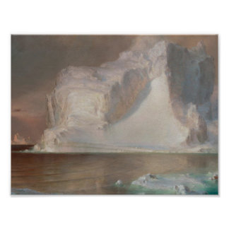 The Icebergs Frederic Edwin Church 1861 Poster