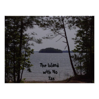the iland with no tax poster