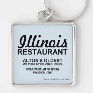 The Illinois Restaurant, Alton, Illinois Key Ring