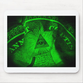 The Illuminati Eye Mouse Pad
