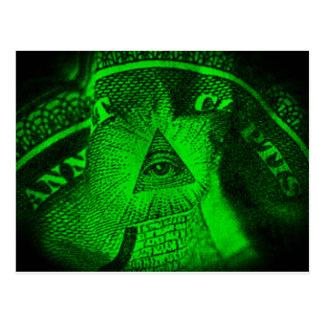 The Illuminati Eye Postcard